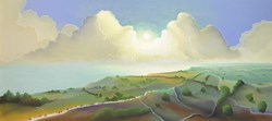 Yorkshire Coast by Mackenzie Thorpe - Limited Edition on Paper sized 30x13 inches. Available from Whitewall Galleries